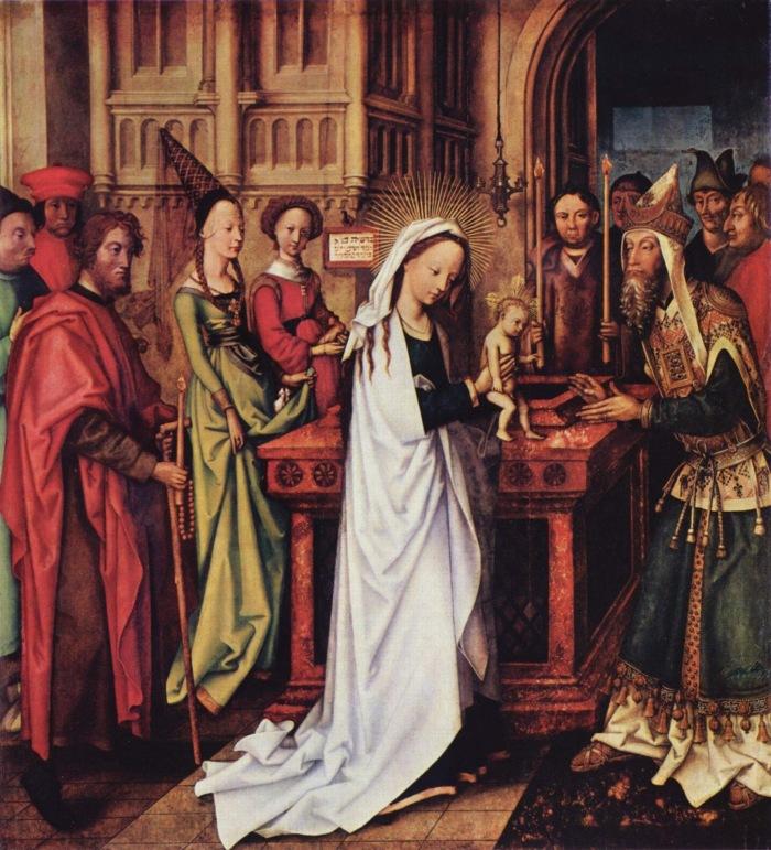 Simeon benedictio Presentation of Jesus at Temple Hans_Holbein_d._Ä._001